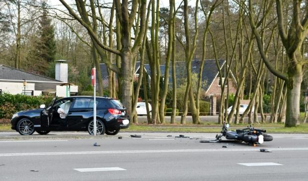 Beeld van het ongeval op zaterdag 28 maart 2020 in Putten.