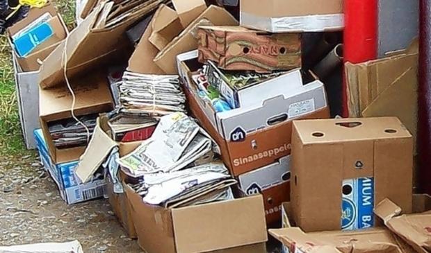 Concordia zamelt oud papier in