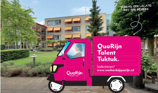 <p>De nieuwe Tuktuk van QuaRijn wordt ingezet om nieuwe zorgtoppers aan te trekken. </p>