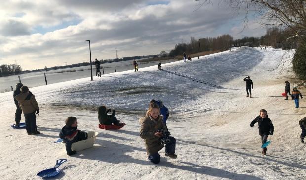 Wintersport gebied bij IJzergieterij.