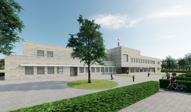 <p>Zo gaat de nieuwe school er uit zien. Oud en nieuw vormen een geheel. &nbsp;</p>