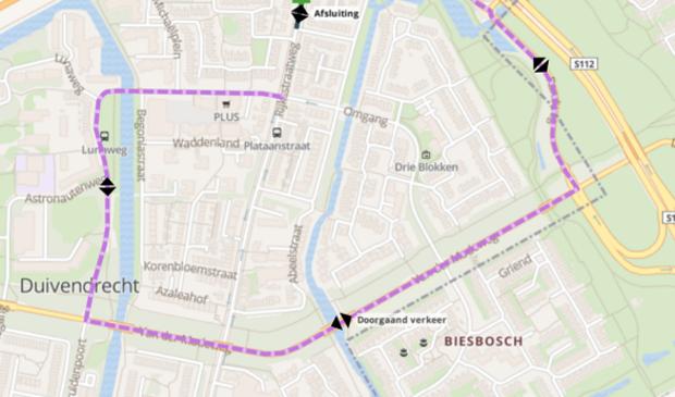 Tijdelijke omleiding Rijksstraatweg.