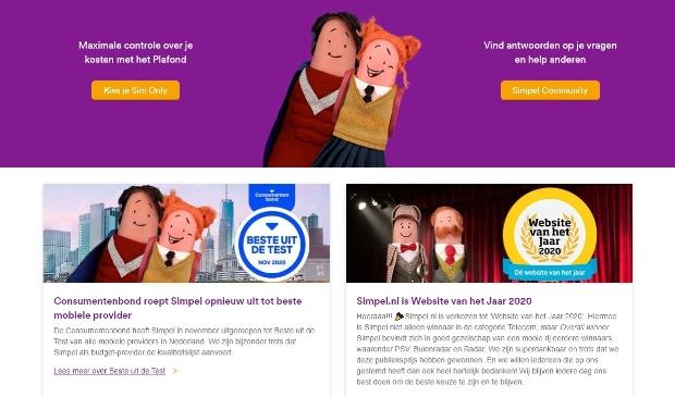 Beste website van het Jaar 2020