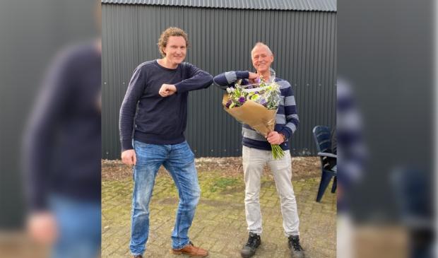 Links Directeur Gerhard van den Top, rechts Henk Hooijer