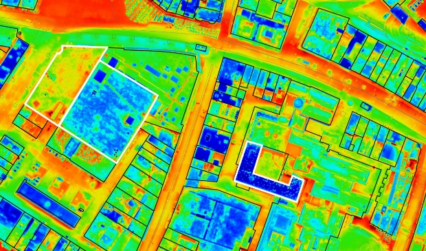 Voorbeeld van een thermische foto.