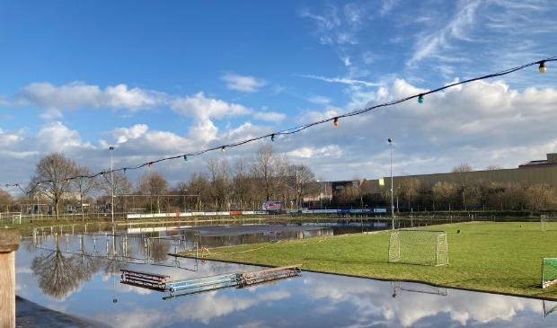 <p>De ijsbaan ligt nu nog onder water. ,,De vorst zal ons verder moeten helpen.&quot;</p> Edese IJsvereniging © BDU Media