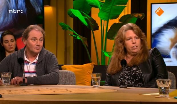 Ed Flameling (links) en Corita Both (rechts) in televisieprogramma De Nieuwe Maan