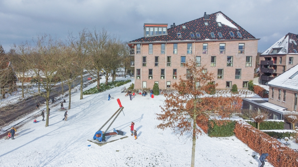 Sneeuwpret op de Wallerstraat Aalt Guliker © BDU Media