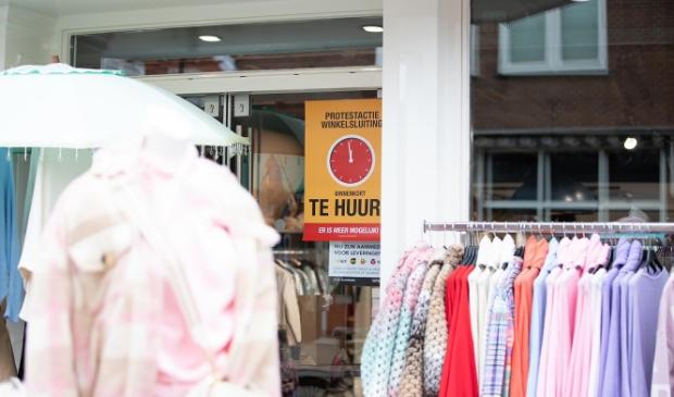 Winkeliers in actie tegen winkelsluiting.