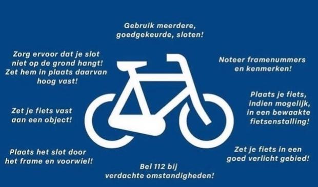 Tips van de politie om diefstal van een fiets te voorkomen