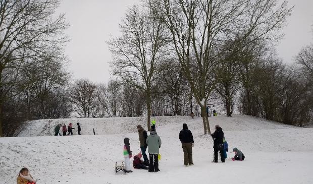 Sneeuwpret in Imkerspark