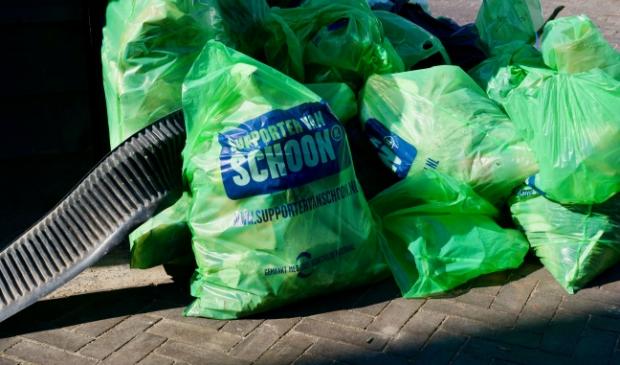 Klein deel van de afvalbuit