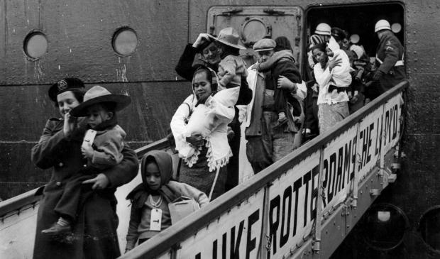 aankomst Kota Inten in Rotterdam, 1951
