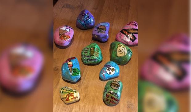 De beschilderde Happy Stones