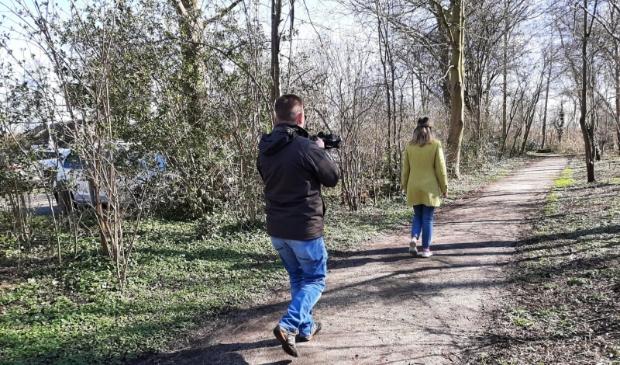 Stukje wandelroute langs Elieserpad.
