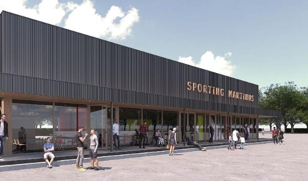Impressie van het nieuwe clubhuis van Sporting Martinus.