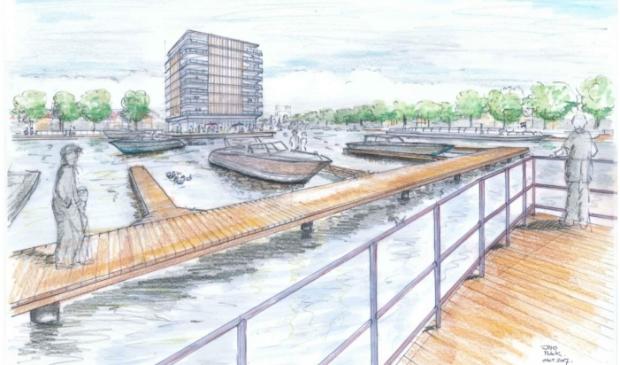 Impressie van de toekomstige haven.