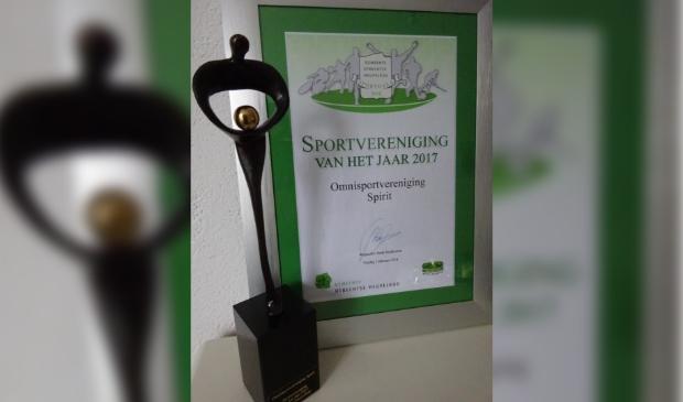 s.v. Spirit werd in 2017 'sportvereniging van het jaar'
