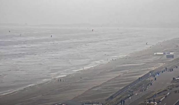 <p>Zandvoort tijdens de storm.</p>