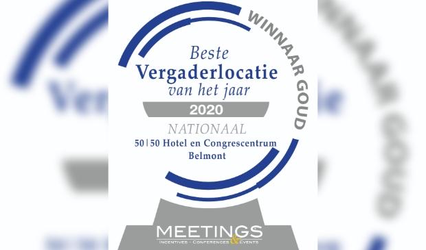 Gouden Award beste vergaderlocatie van het jaar