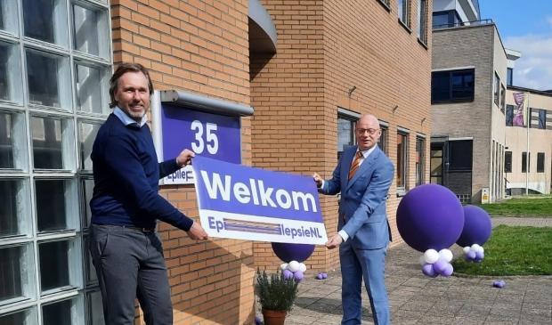 <p>Burgemeester Gilbert Isabella en directeur Joost Wijnhoud onthulden de nieuwe naam. &nbsp;</p>