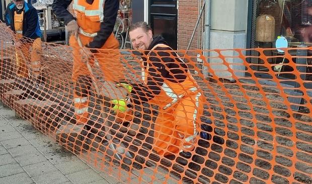 <p>Gerwin Van de Pol werkt aan &#39;zijn&#39; Singel.</p>