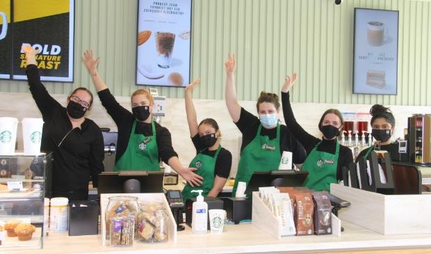 Het team van Starbucks Foodcourt Amersfoort.
