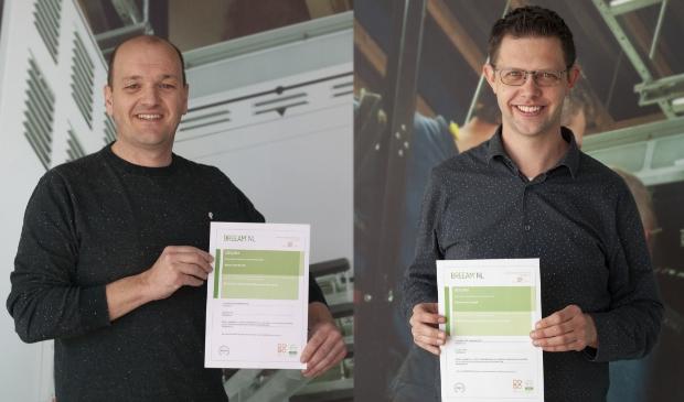 <p>Marco van de Pol (links) en Gerard van de Beek.</p>
