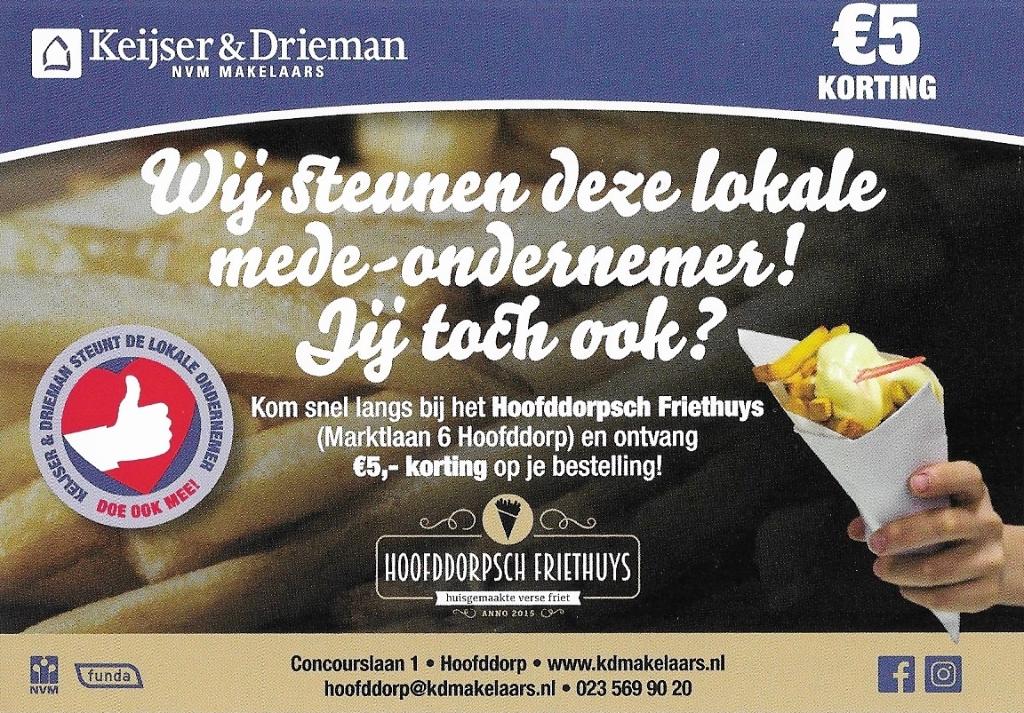 Leuk initiatief van Keijser & Drieman NVM Makelaars De bon © BDU media