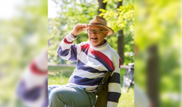 Anthony zoals velen hem kenden, met zijn hoed en zijn lach.