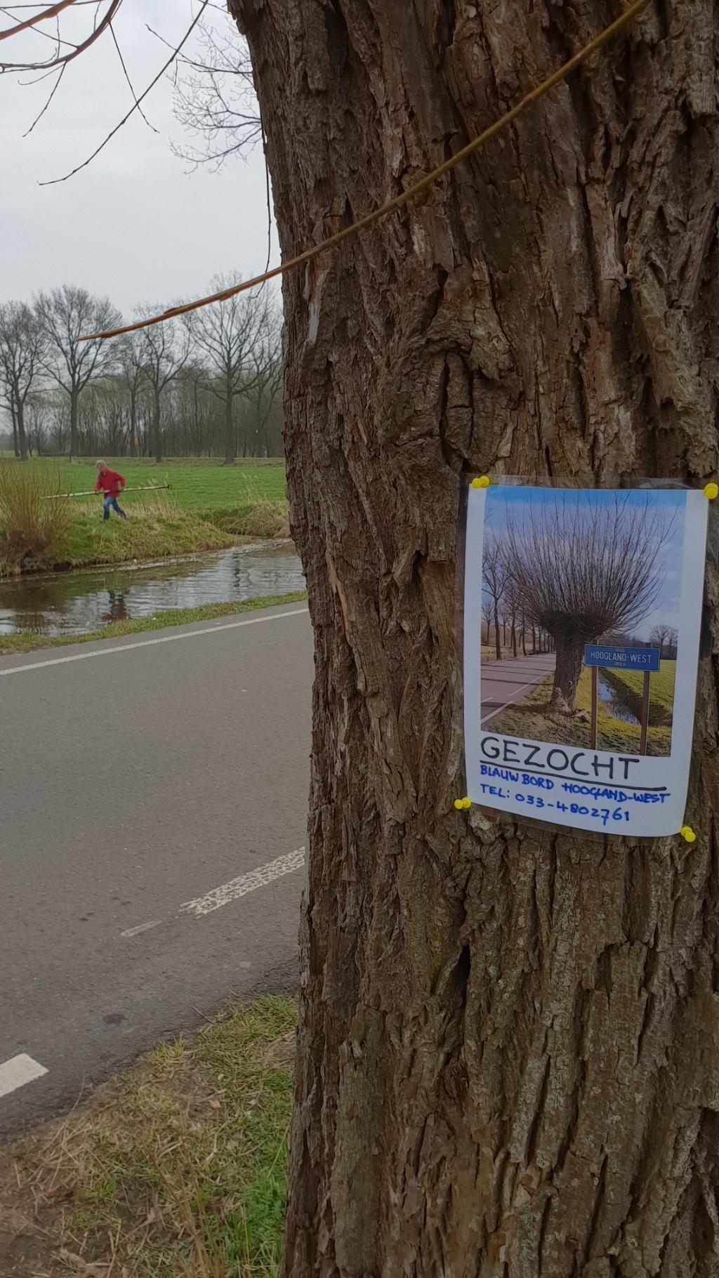 """Poster """"Gezocht"""" Dick Reef © BDU media"""