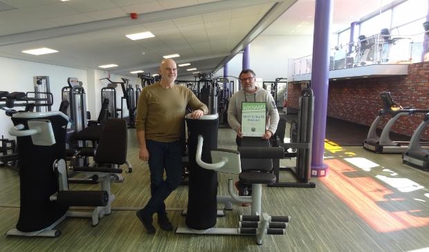 <p>Kees Vink (links) en Dennis van Dijk van Sport & Health Workout.</p>