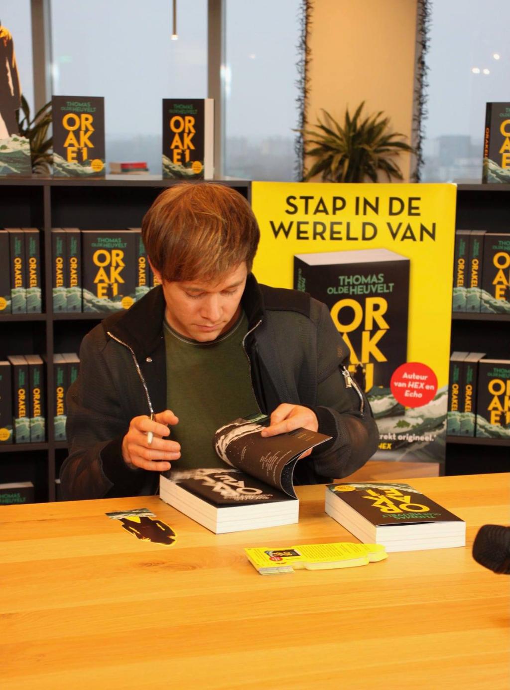 Thomas Olde Heuvelt signeert Uitgeverij de Boekerij © BDU media