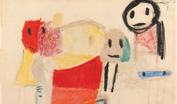 Karel Appel, Vragende-kinderen, 1951, collectie Cobra Museum voor Moderne Kunst