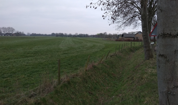 Het open gebied aan de oostkant van Houten, waar in het Manifest  Houtense Koers een woonwijk komt.
