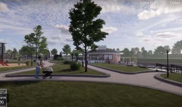 <p>Stichting Behoud Erfgoed De Vries Robbe maakte al een plan voor herinrichting van Linge 2 Zuid</p>