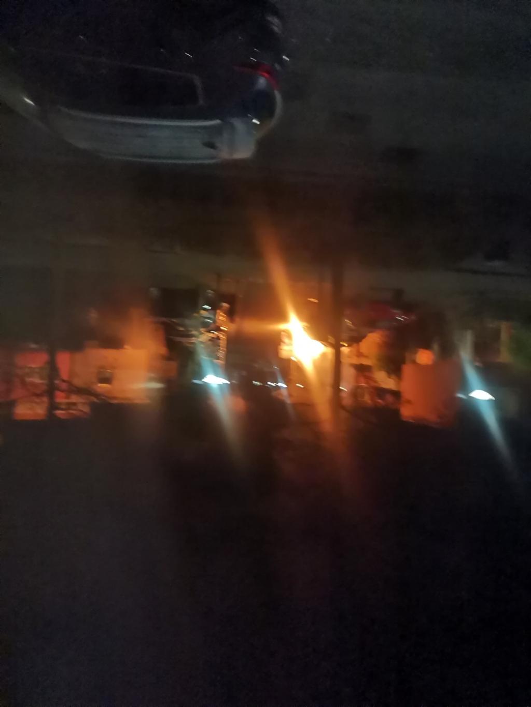 De brand vanuit mijn kamer te zie A. Borgers © BDU media
