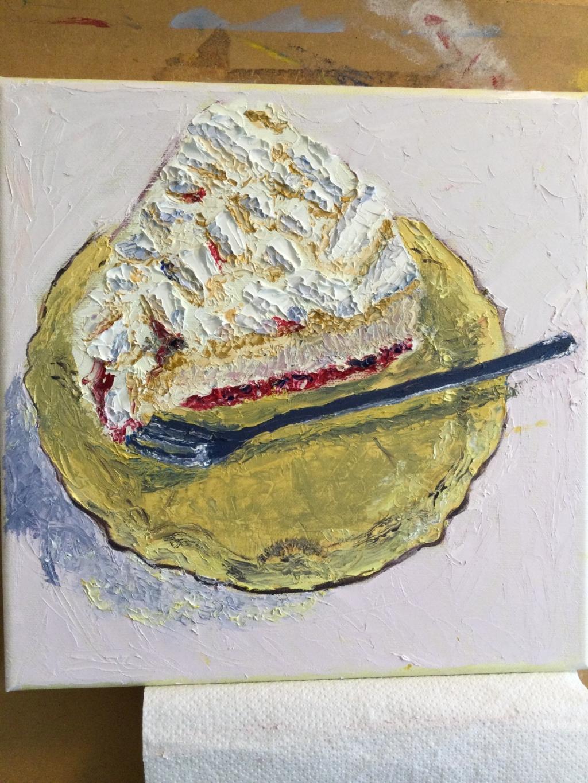 Werk uit de expositie Smakelijke taartjes Bernadette © BDU media