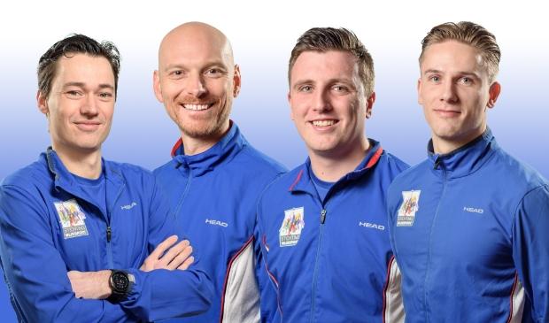 V,l.n.r.: Michiel, Tobias, Luc en Roben