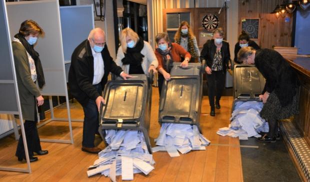 <p>Iets na 21.00 werden de kliko&#39;s geleegd met totaal 1683 stembiljetten in de kantine van Sporthal Oosterbos in Barneveld.</p>