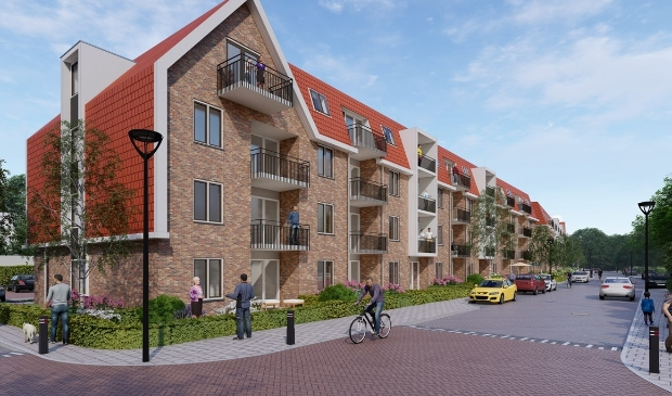<p>Ook aan de Moerbessenberg worden oude woningen vervangen voor nieuwe (artist impression).</p>