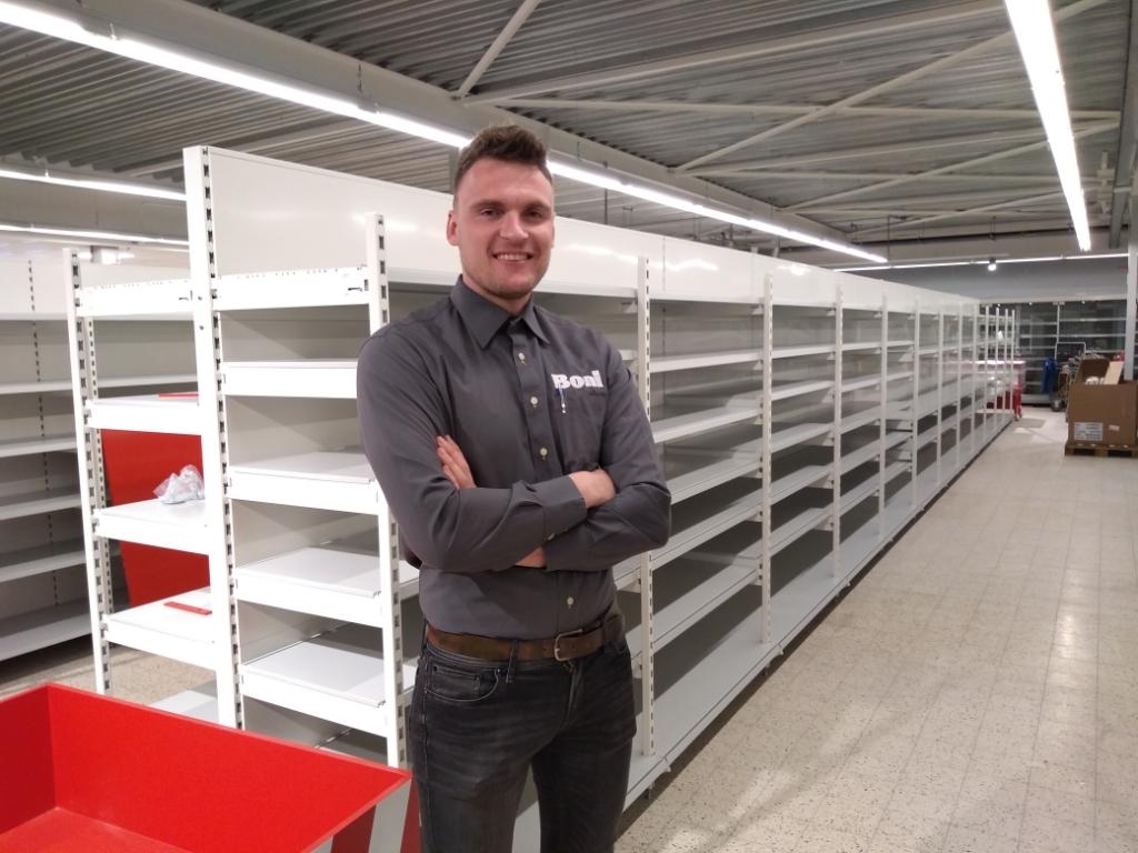 <p>JP Oostenrijk, bedrijfsleider van de Boni in Odijk: &#39;We krijgen een hele nieuwe winkel.&#39;</p>