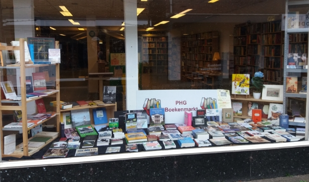 Etalage PHG boekenmarkt