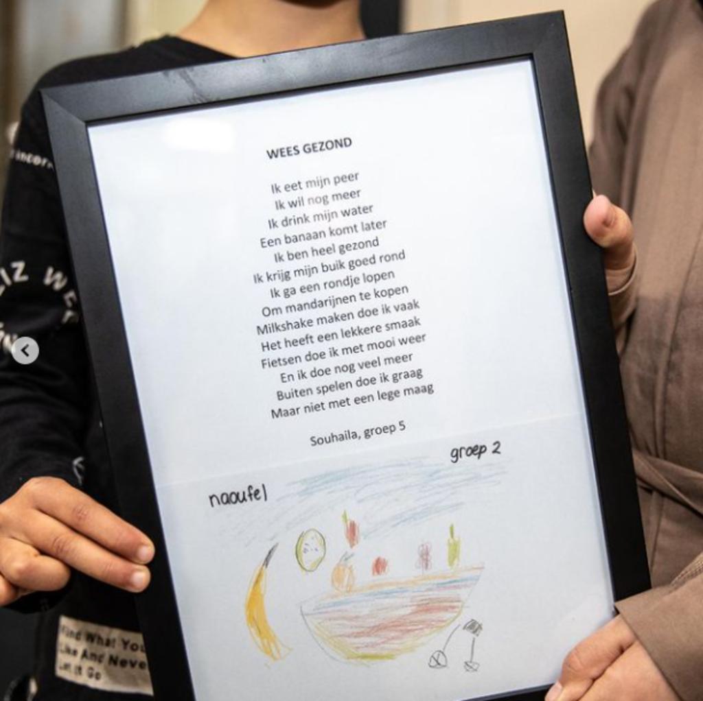 Het winnende gedicht van Souhaila. Gemeente Ede © BDU Media
