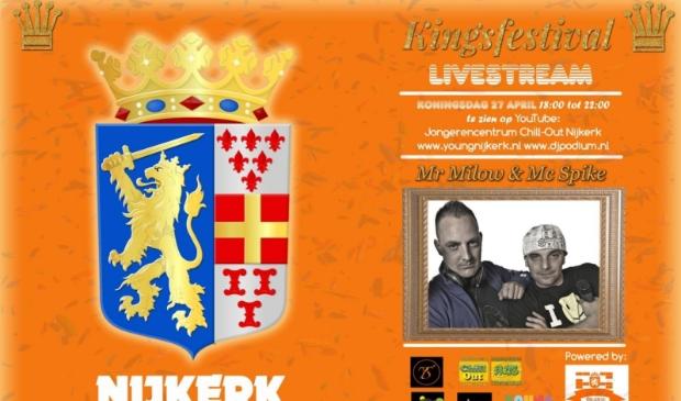 Jongerencentrum Chill-Out Nijkerk en gemeente Nijkerk organiseren een Kingsfestival livestream.