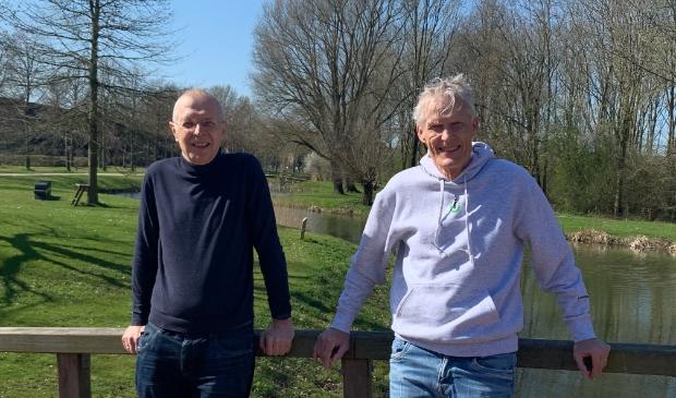 <p>Martin Op &#39;t Land en Lex Goudswaard bedachten het burgerinitiatief opvang kindvluchtelingen</p>