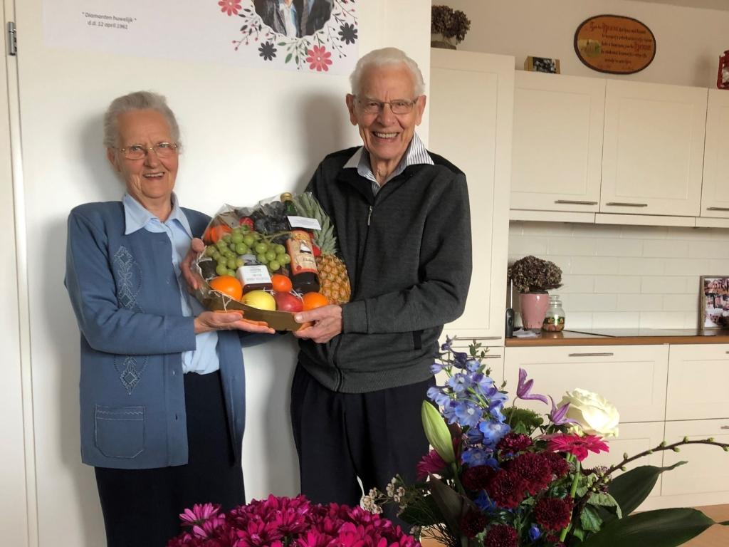 Dirk en Sophia de Groot 60 jaar getrouwd op 12 april 2021