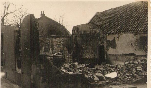 Gebombardeerd huis in 1944