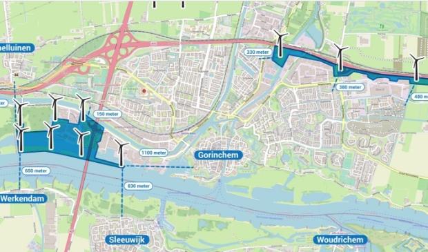 <p>Van de zoekgebieden voor wind blijft alleen Avelingen-Oost over</p>