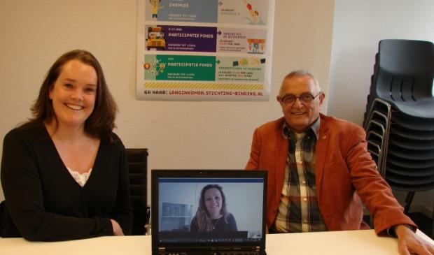 <p>Links Marlous Dijk, op de laptop Laura Roosen en rechts Eric Harmsen.<br><br></p>